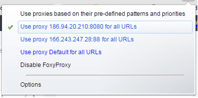 Proxies su FoxyProxy