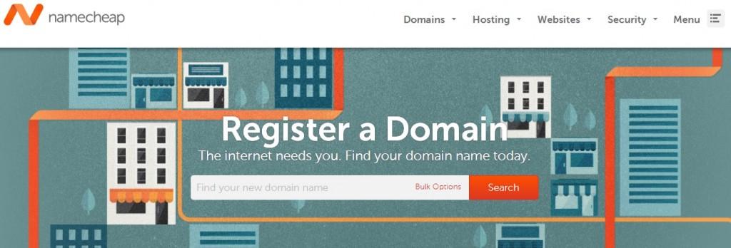 registrazione dominio con namecheap