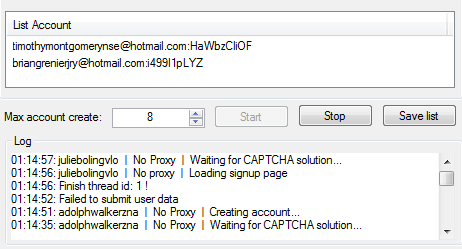 Creazione account hotmail