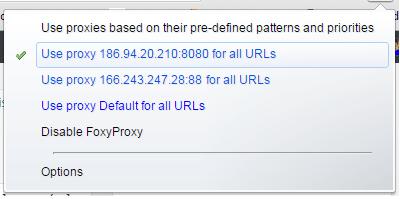 Proxies su FoxyProxy
